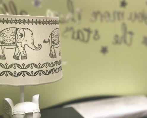 lampe en tissus africains